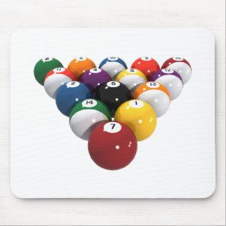 Pool Balls / Billiards: 3D Model: Mouse Pad