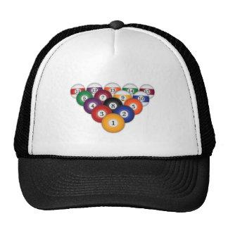 Pool Balls Billiards Hats