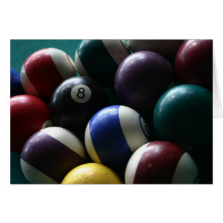 Pool balls cards