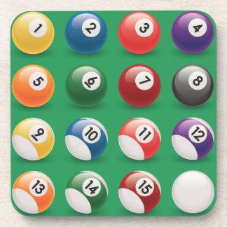 pool balls drink coaster