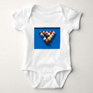 Pool Balls on Blue Felt: Baby Bodysuit