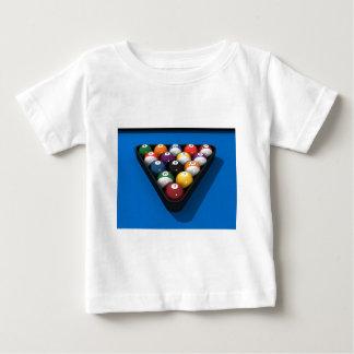 Pool Balls on Blue Felt: Baby T-Shirt