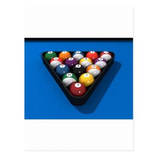 Pool Balls on Blue Felt: Postcard