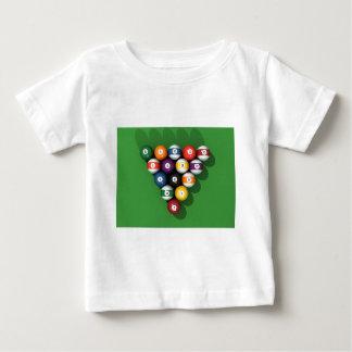 Pool Balls on Green Felt: Baby T-Shirt