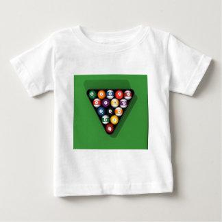 Pool Balls on Green Felt Billiards Table: Baby T-Shirt