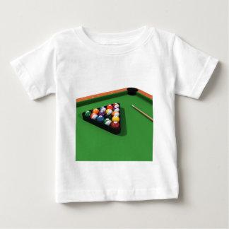 Pool Balls on Green Felt Billiards Table Baby T-Shirt