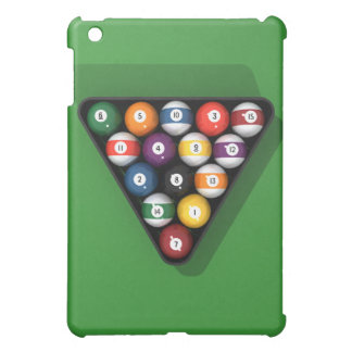 Pool Balls on Green Felt Billiards Table: Cover For The iPad Mini