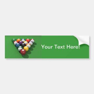 Pool Balls on Green Felt: Bumper Sticker