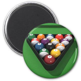 Pool Balls on Green Felt: Refrigerator Magnets