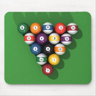 Pool Balls on Green Felt: Mouse Pad