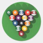 Pool Balls on Green Felt: Sticker