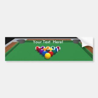 Pool Balls on Table: 3D Model: Car Bumper Sticker