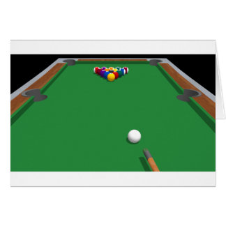 Pool Balls on Table: 3D Model: Cards