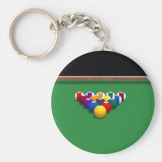 Pool Balls on Table 3D Model Keychain
