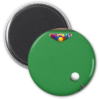 Pool Balls on Table: 3D Model: Fridge Magnets