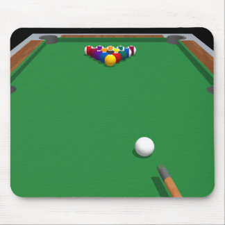 Pool Balls on Table: 3D Model: Mouse Pad