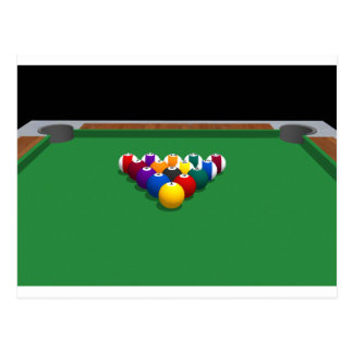 Pool Balls on Table: 3D Model: Postcard