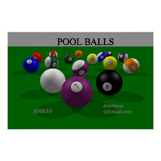 Pool Balls (print) Poster