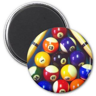 Pool Balls - Rack Em Up! 2 Inch Round Magnet