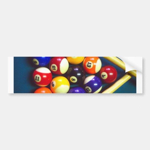 Pool Balls - Rack Em Up! Bumper Sticker