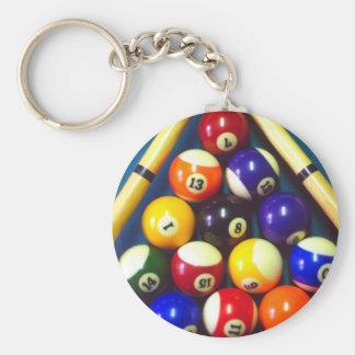 Pool Balls - Rack Em Up! Key Chain