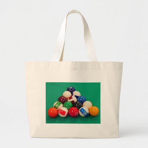 Pool Balls Racked Canvas Bags