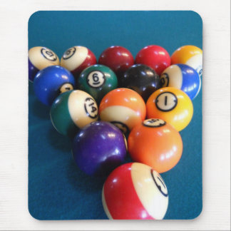 Pool Balls Racked on the table Mouse Pad
