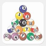 Pool Balls Square Sticker