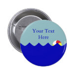 Pool Beach Ball (Customizable) Button