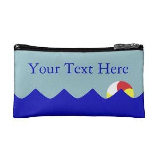 Pool Beach Ball (Customizable) Cosmetic Bag