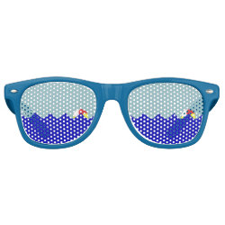 Pool Beach Ball (Customizable) Retro Sunglasses