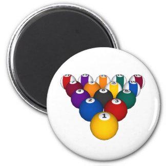 Pool: Billiard Balls: Billiards: 2 Inch Round Magnet