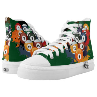 Pool Billiard Balls High-Top Sneakers