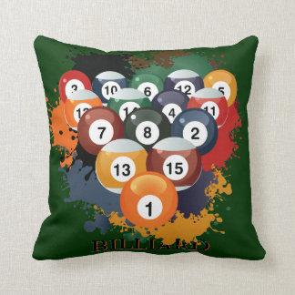 Pool Billiard Balls Pillow