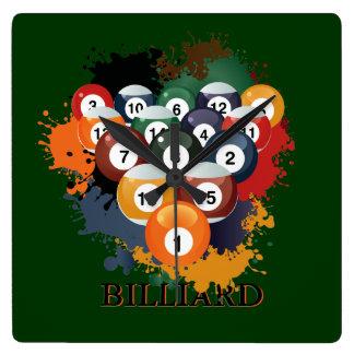 Pool Billiard Balls Wall Clock