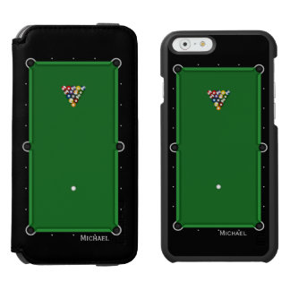 Pool Billiard Table iPhone 6/6s Wallet Case