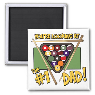 Pool/Billiards #1 Dad Father's Day Gift Fridge Magnets