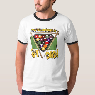 Pool/Billiards #1 Dad Father's Day Gift T-Shirt