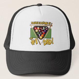 Pool/Billiards #1 Dad Father's Day Gift Trucker Hat