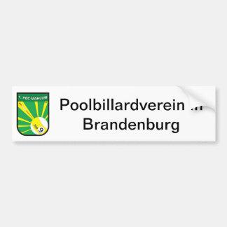 Pool billiards association bumper sticker