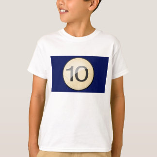Pool Billiards Ball Number 10. Front & back print. T-Shirt
