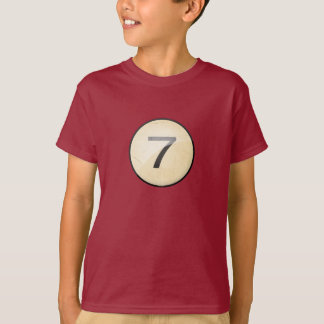 Pool Billiards Ball Number 7. Front & back print. T-Shirt