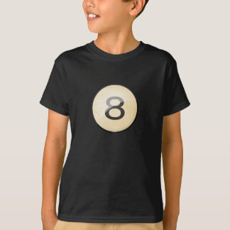 Pool Billiards Ball Number 8. Front & back print. T-Shirt