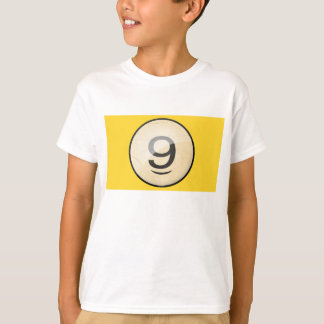 Pool Billiards Ball Number 9. Front & back print. T-Shirt