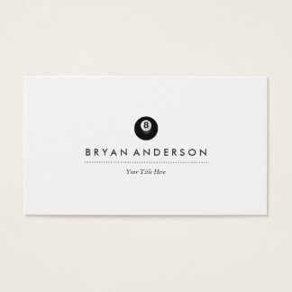 Pool - Billiards Business Card