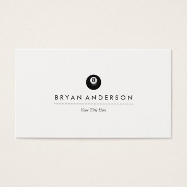 Professional Business Pool - Billiards Business Card