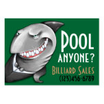 Pool.Billiards.Cards.Poker.Bar.Night club.Tables Large Business Cards (Pack Of 100)