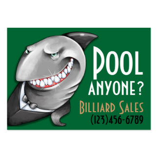 Pool.Billiards.Cards.Poker.Bar.Night club.Tables Large Business Card