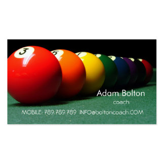 Pool Billiards Coach or Player Business Card