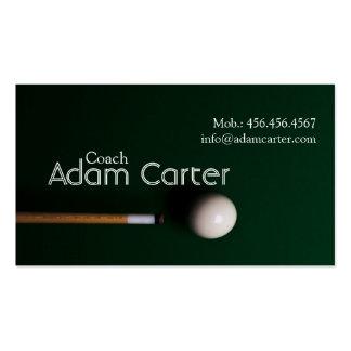 Pool Billiards Coach Trainer Sport Business Card
